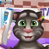 Get ready for this baby talking Tom eye doctor game where your very special fri